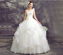 WTY71 2016 Wedding Dresses Sweetheart Cascading Ruffles Cheap Vestido De Novia Under 100 Court Bridal Gowns Dress