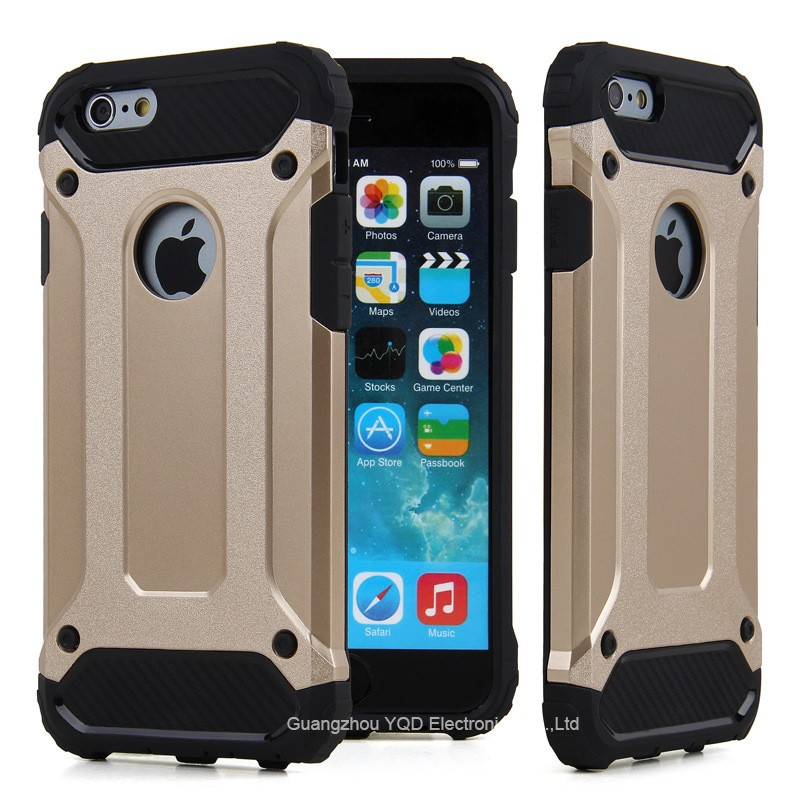 Shockproof Durable TPU PC 2 in 1 Hybrid Phone Case For iPhone 6 Plus 6s