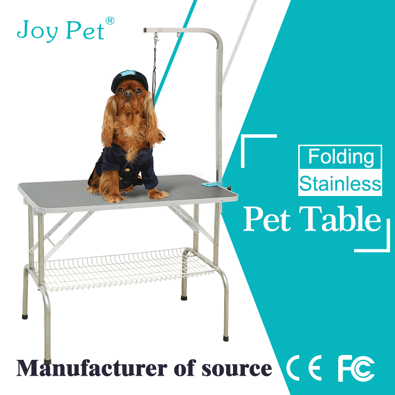Portable pet grooming table for dogs and cats