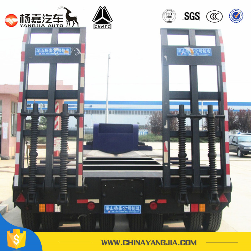 3 Axle Trailer Strong Lowbed Semi