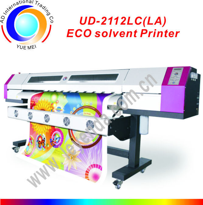 Eco Solvent Inkjet Printer Galaxy UD-2112LC 2.1m DX5 Heads 1440dpi Resolution