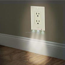 Night Light Outlet Cover Led Sensor Wall Outlet Cover Led Plug Cover On Wall