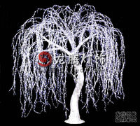 3m Outdoor illumination White led weeping willow tree lighting