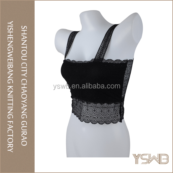 New arrival fashion tube bra black lace sexy womens tube tops