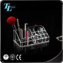 Popular wholesale acrylic cosmetic storage boxes display rack makeup organizer