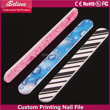 Manicure file custom emery board triangle nail file