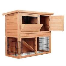 Factory direct wholesale Indoor outdoor custom handmade wooden rabbit hutch
