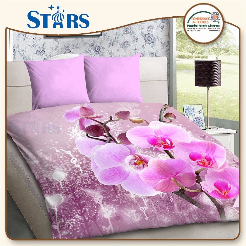 GS-PANSO-03 OEKO-TEX fadeless 3d printed romantic bed sheet