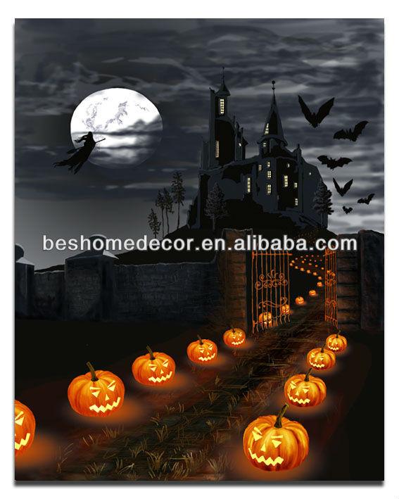 Lighted Halloween Decoration Jack o lanterns Canvas Art - Led Halloween Decorations