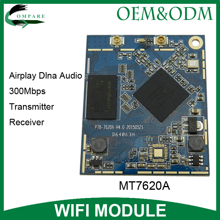 Max.300Mpbs wireless audio sender mt7620a openwrt wifi dlna module