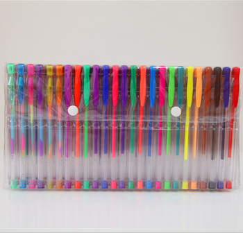 gift custom logo plastic bag pack multi color gel ink ballpoint pen