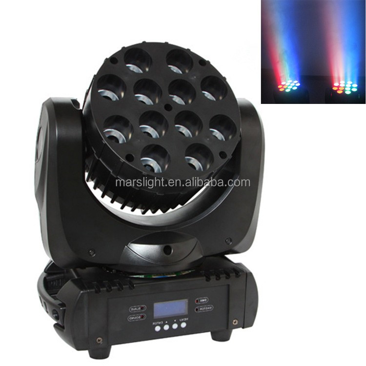 12pcs 10W zoom led moving head Bee eye led moving head light