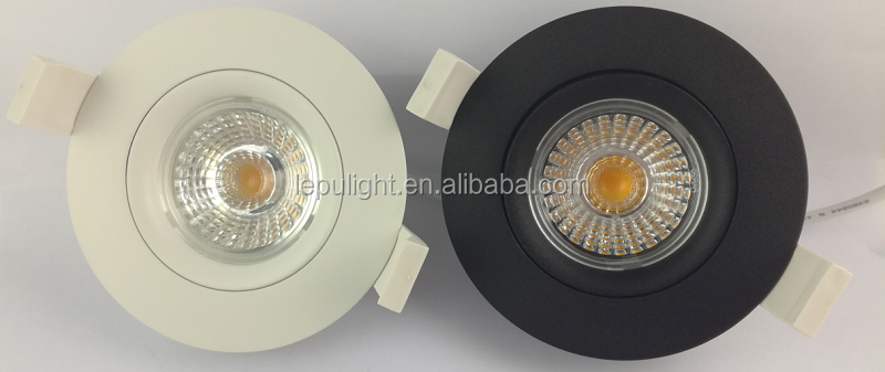 RA97 GYRO recessed round led downlights dimming 83mm 68mm cutout for Danmark, Sverige og Norge