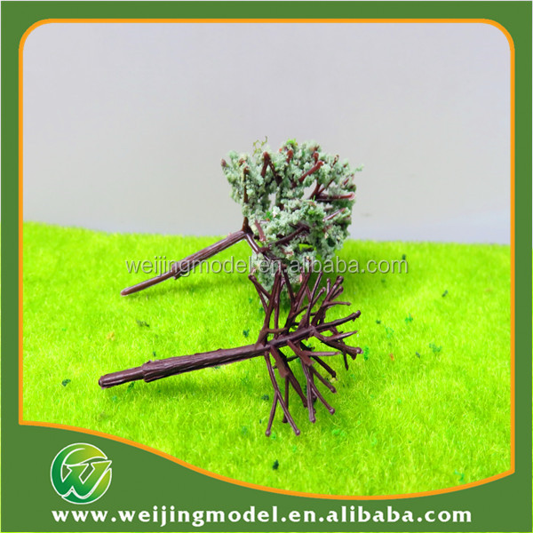 Various artificial miniature plastic&iron wire scale model tree for architectural model and train model layout