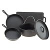 5 Piece Cast Iron camping Cookware Set