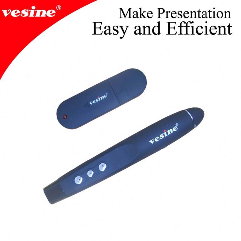 100 Foot Wireless USB PPT Lecture Presenter Laser Pointer RF IR Remote Pen