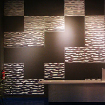 peony shape design 3d effect soundproof wall panels