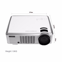 Full HD LED33-02 Projector Daytime LCD 3D 100W 2000lumens LED Lamp Enjoy Home Cinema Smart projector