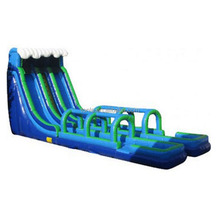 Dual Inflatable Slip N Slide for hire, Outdoor Inflatable Water Slide for kids and adults