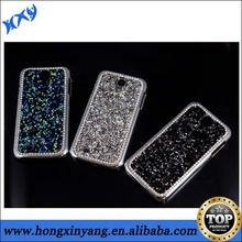 3D Bling Rhinestone Inlay Sparkling Plastic Phone Case For Samsung Galaxy S4.