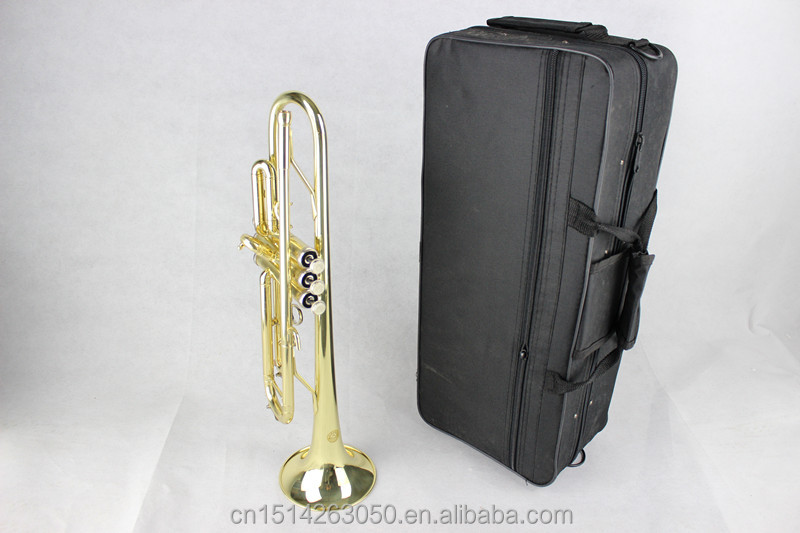 Wholesale high quality brass trumpets, BB trumpet, yellow horn, professional trumpet instrument