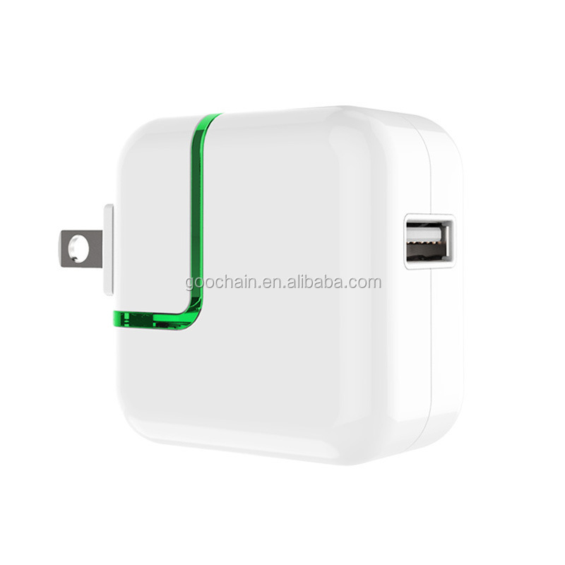 5V 2A OEM usb wall charger with led light for mobile phone and tablet