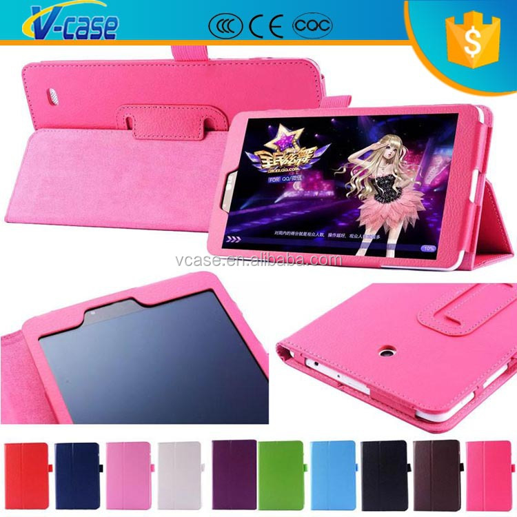 Color Slim Litchi Smart Holder Flip Folding Tablet PC Case Folio Stand Leather Case For LG GPad 8.0 G Pad 8 Inch V480 P