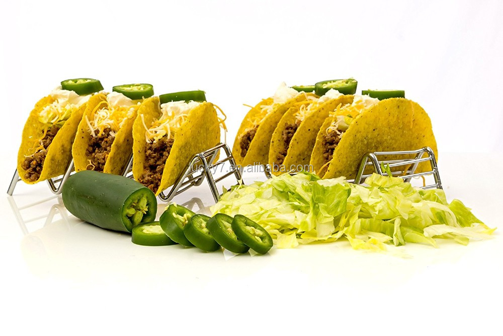 Food-grade Stainless Steel 3 or 4 Taco Stand
