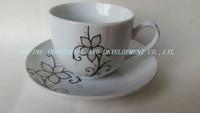 320cc Porcelain tea cup saucer, wholesale tea cups and saucers