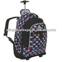 2011 New Style Electric Flowers School Trolley Bags For Teenagers