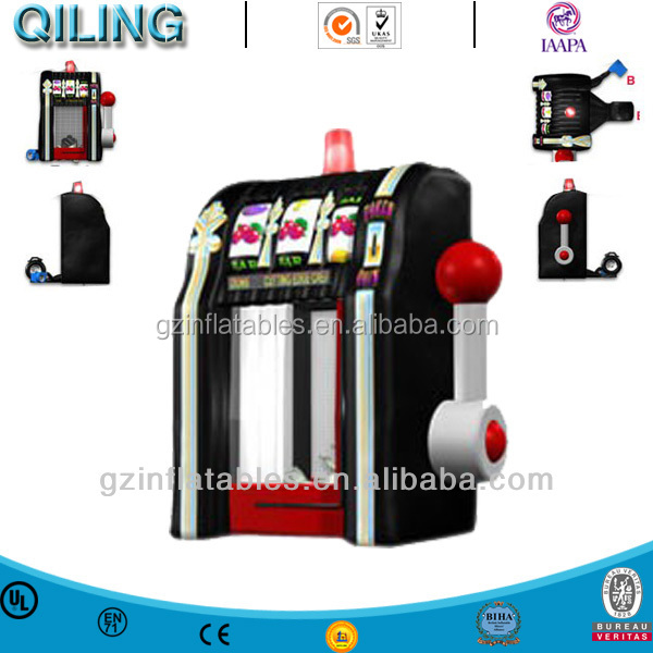 2016 qiling advertising Slot Machine sport games Inflatable Cash Cube