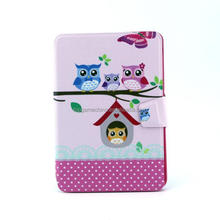 Owl pattern book style leather case for iPad mini
