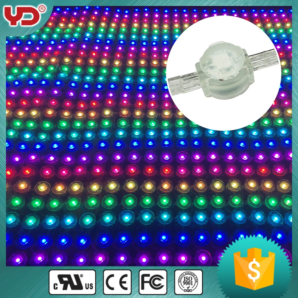 full color flexible led transparent mesh for outdoor media glass screen