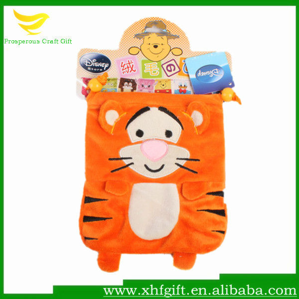 Animal plush drawstring gift bag ,tiger drawstring bag