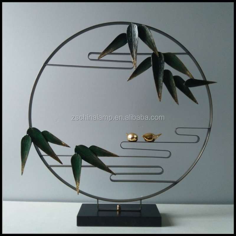 Antique chinese supplier Metal Craft With Bamboo Art Homemade For Home decor And Wedding gift