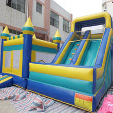 China inflatable combo giant slide with jumping castle bouncer house