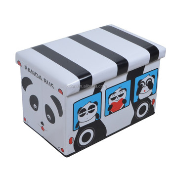 New Kids Bus Storage Ottoman folding storage box