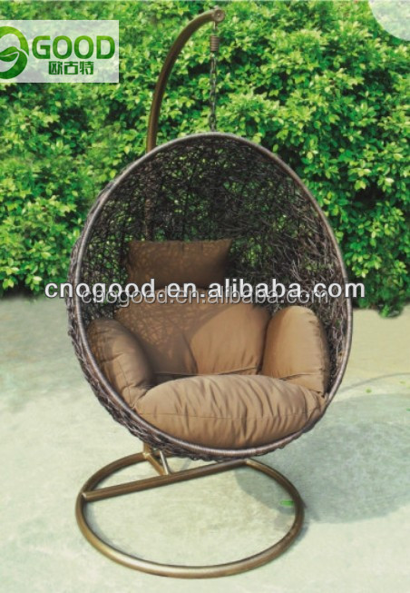 egg shaped synthetic rattan chair
