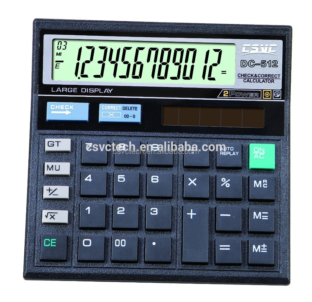 Wholesale Cheapest Price ct 512 calculator With Bottom