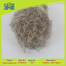 China fabrica al por mayor superwash fancy <span class=keywords><strong>nylon</strong></span> tejer <span class=keywords><strong>hilo</strong></span> hilado <span class=keywords><strong>de</strong></span> la pluma <span class=keywords><strong>de</strong></span> 100% <span class=keywords><strong>nylon</strong></span>