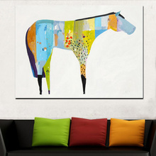 Abstract Horse Art Painting Digital Print Canvas Painting Wall Deocr Animal Painting