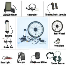 500w electric bicycle conversion kit LCD Meter electric bike kit china