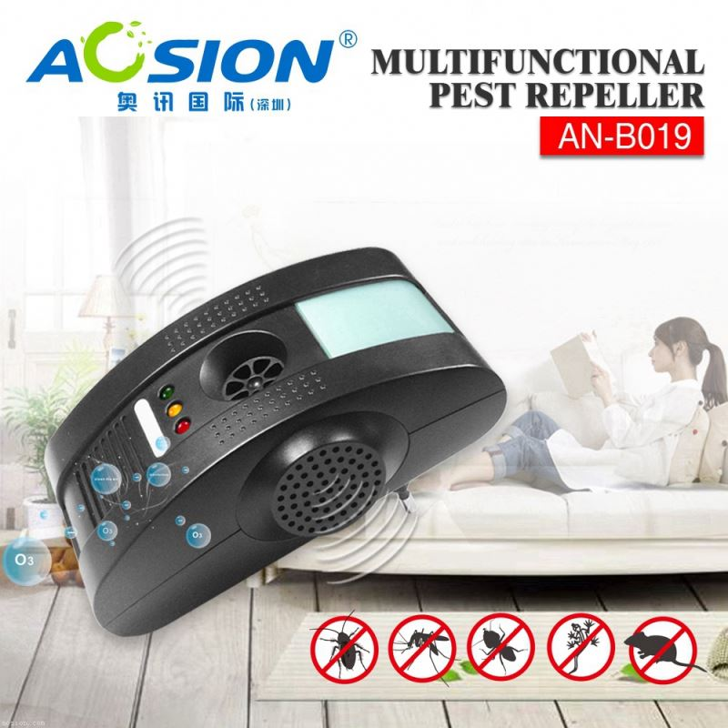 Aosion Sample available electromagetic + anion + ultrasonic + night light non toxic insect repellent for mouse rat bug fly