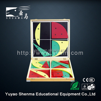 Math plane geometry set teaching aids demo board primary school educational equipment
