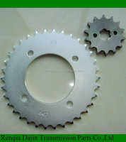 motorcycle chain and sprocket transmission kits for moto honda made by China manufacturer