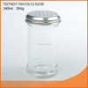 345ml plain white glass spice jar/ glass cruet/ glass spice jar with metal cover