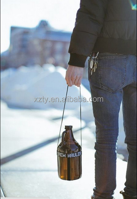 64 oz amber glass beer growler