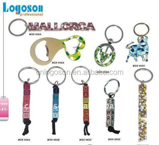 High quality colorful dice keychain souvenir keyring