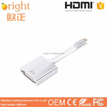 Wholesale 2017 USB Adapter 3.1 Type C Male to DVI Female 1080P Monitor Adapter USB 3.1Type-C to DVI Adapter Connector HDTV Cable