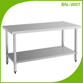 BN-W07 Industrial factory price commercial kitchen square leg work table